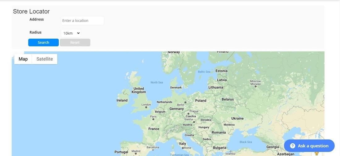 10Web Map Builder pour la page de démonstration de Google Maps