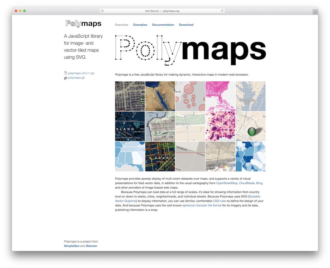 plugin de carte jquery polymaps