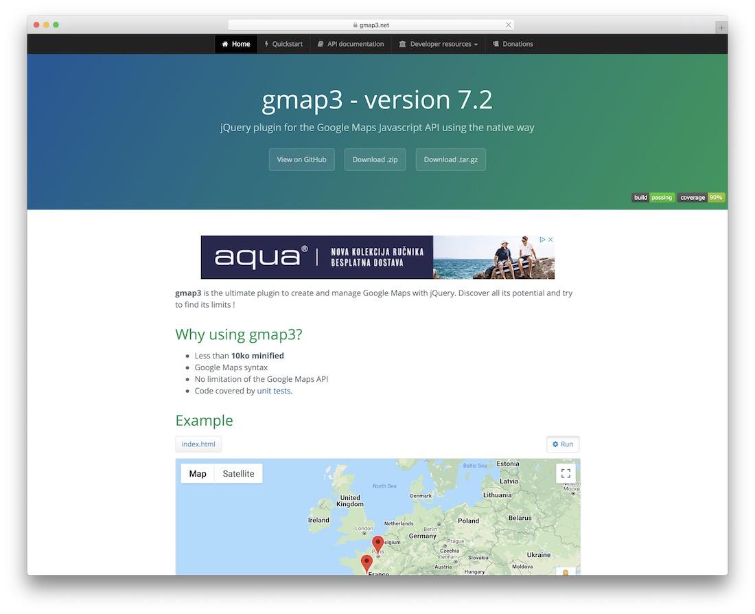 plugin de carte jquery gmap3