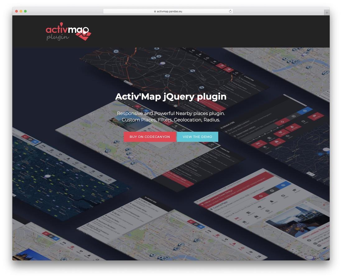 plugin de carte jquery activmap