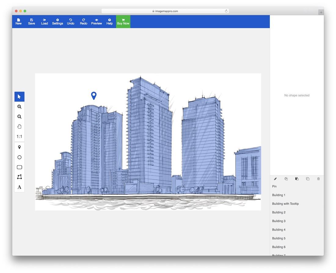 plugin de carte jquery réactif pour image map pro