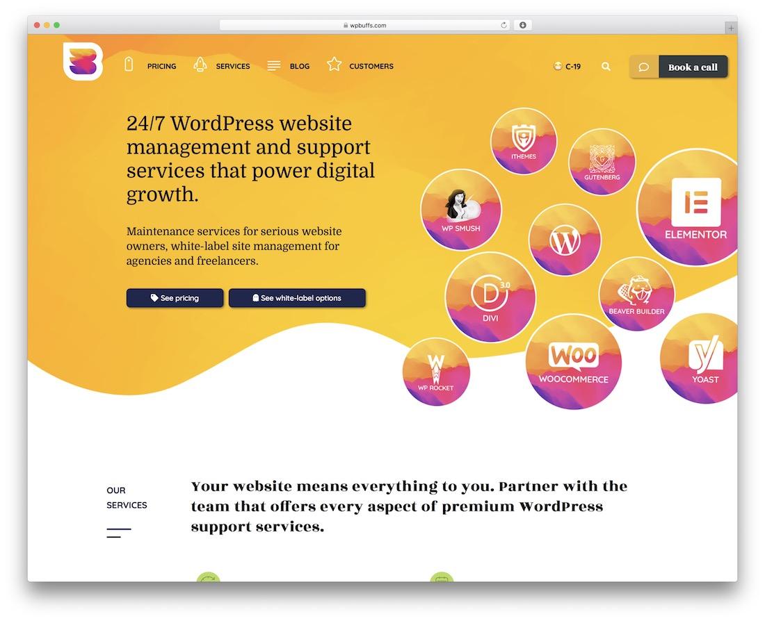 service de maintenance wordpress wp buffs