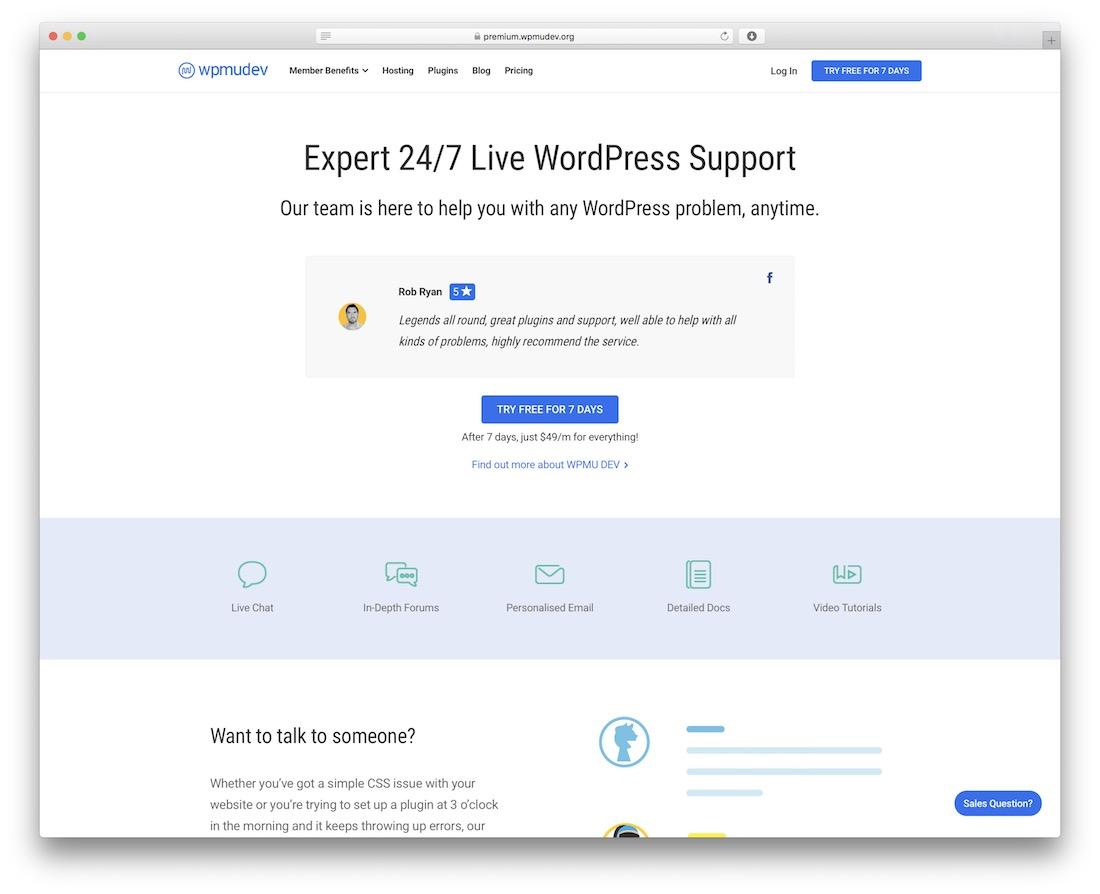 support wpmu dev live wordpress