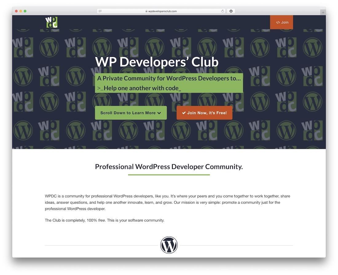 club de développeurs WP
