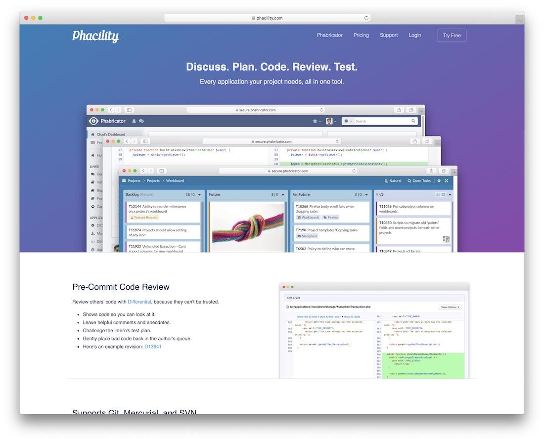 outil de qualité de code phabricator