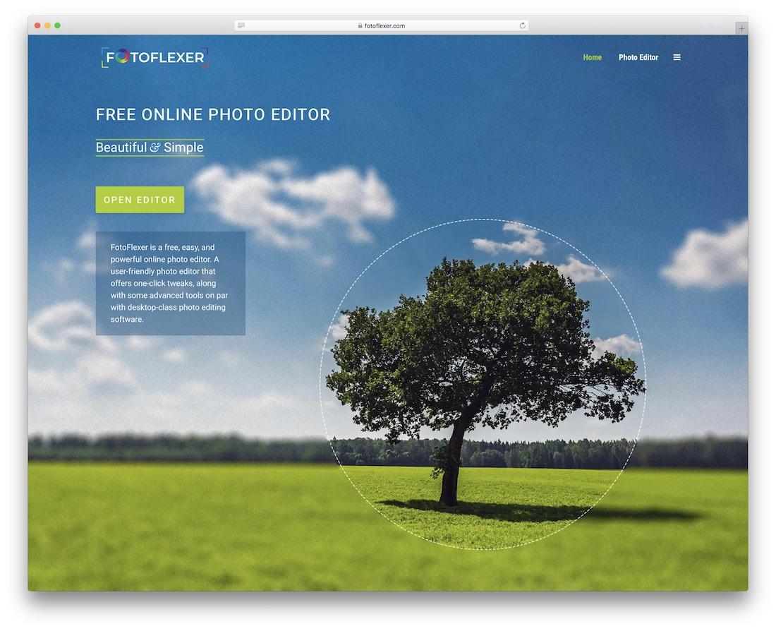fotoflexer alternative gratuite à Photoshop