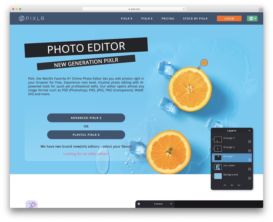 pixlr alternative gratuite à Photoshop