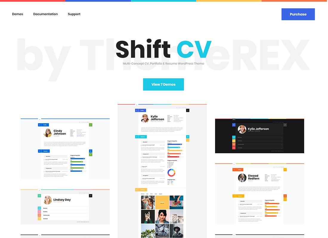 ShiftCV - Blog  CV  Portfolio  WordPress