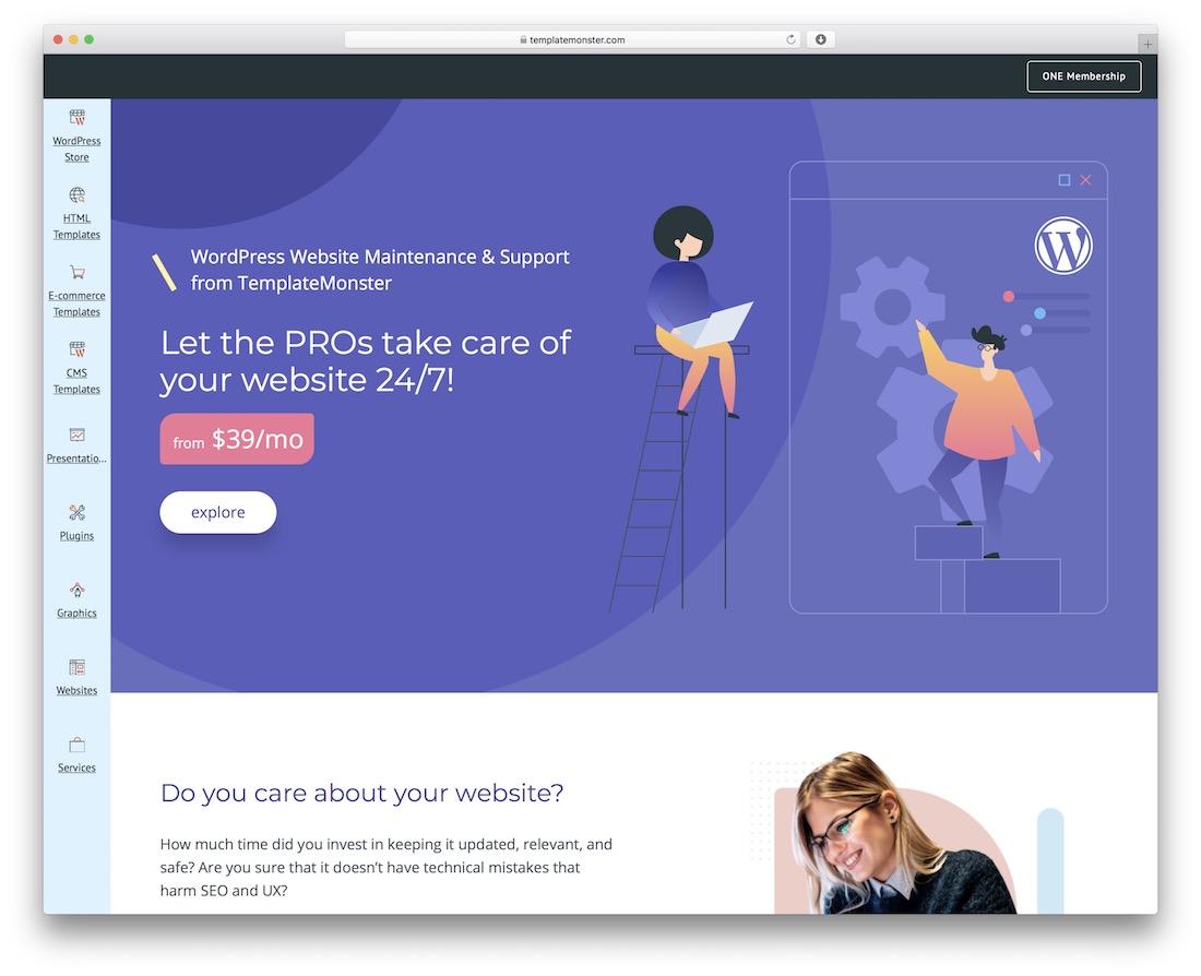 services de maintenance de site Web wordpress