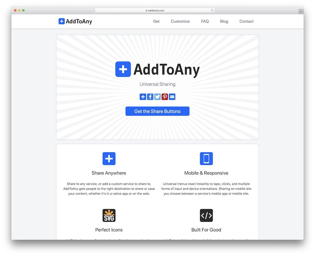 ajouter à tout widget de bouton de partage social