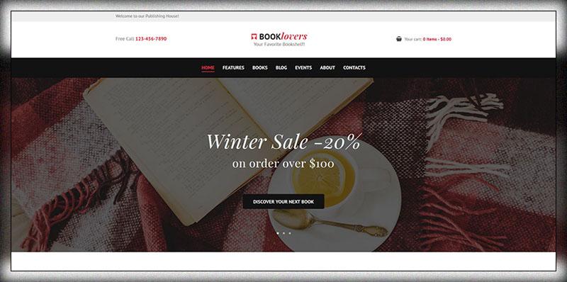 Booklovers - Thème WordPress pour maisons d'édition et librairies