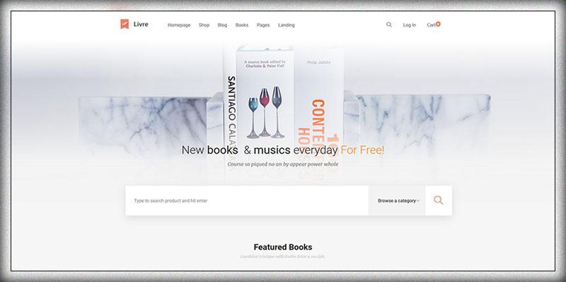 Livre - Thème WooCommerce pour la librairie