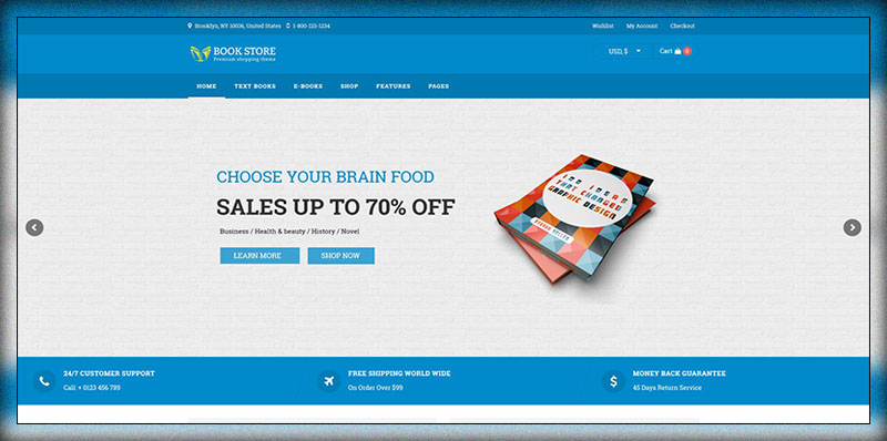 Thème WooCommerce WordPress Book Store