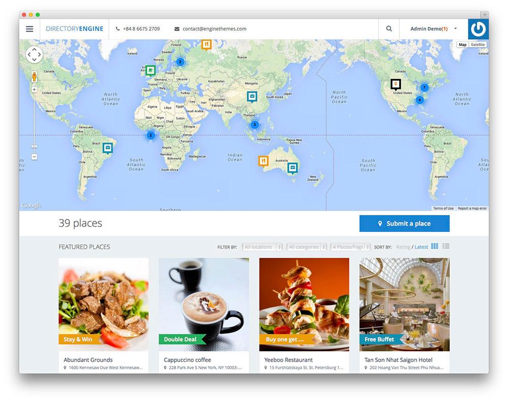 Thème WordPress DirectoryEngine