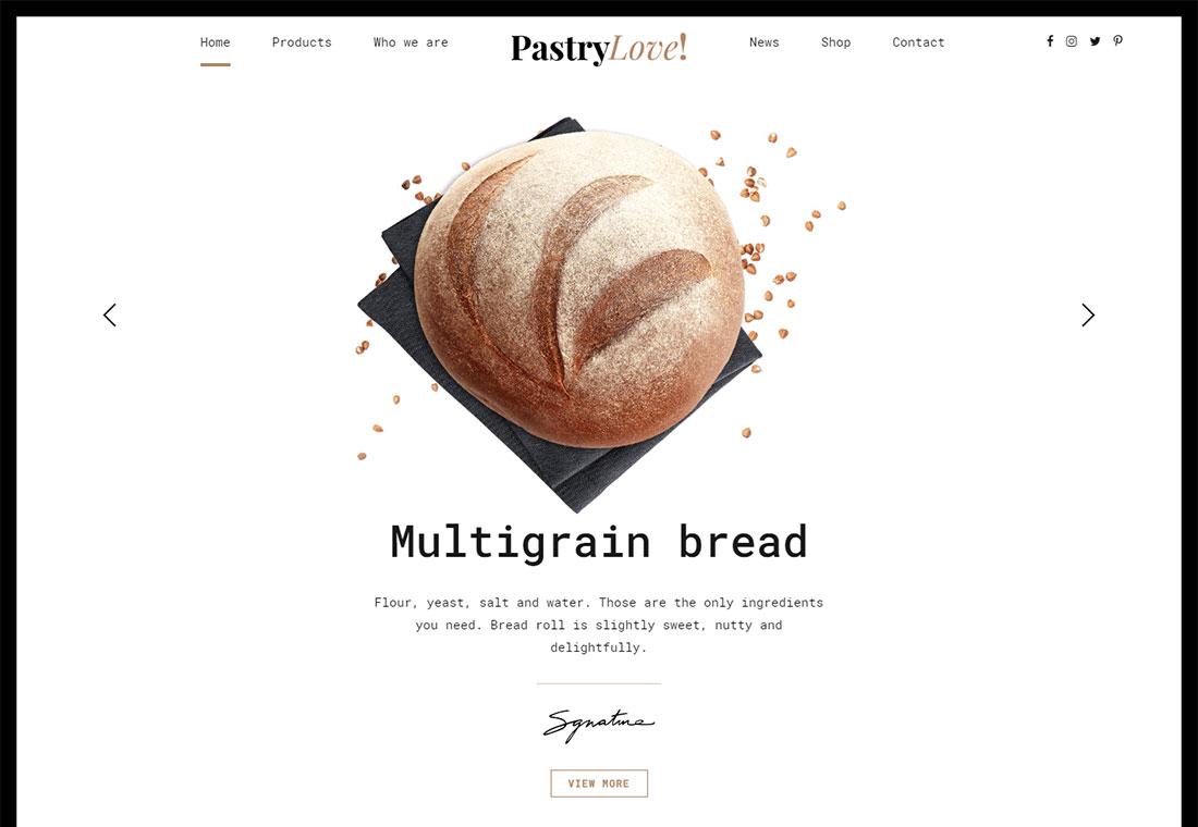 Amour de la pâtisserie - WordPress