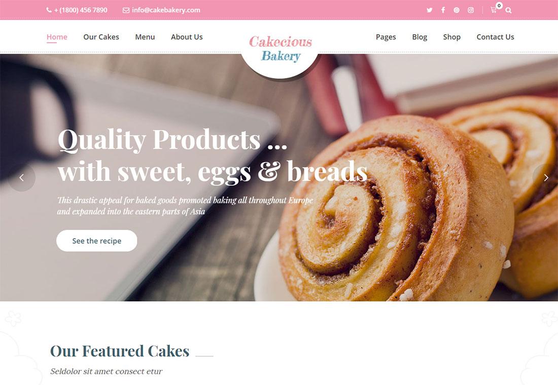 Cakecious - WordPress