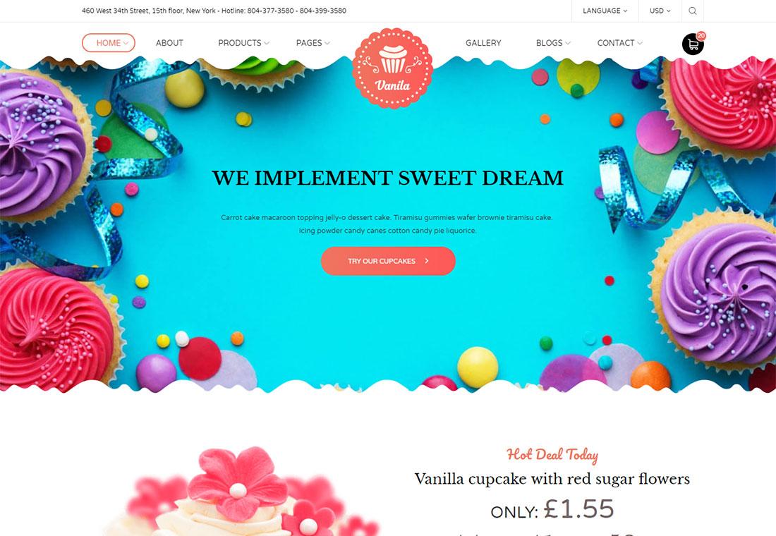 Modèle de site Web de boulangerie