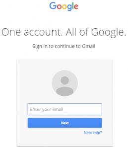 Page de connexion de phishing de l'URI de données GMail