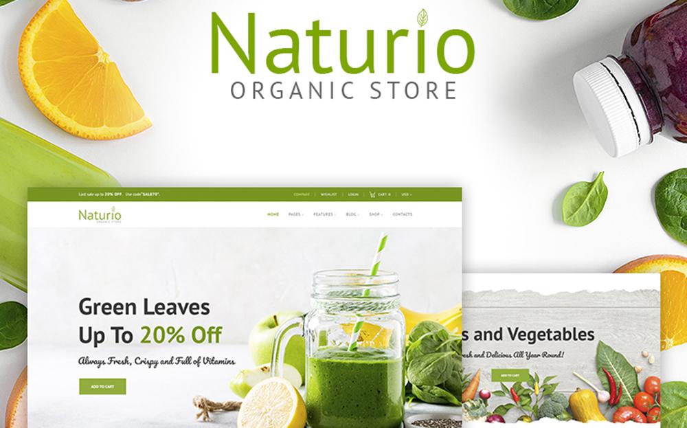 Naturio Food Store Template Thème WooCommerce