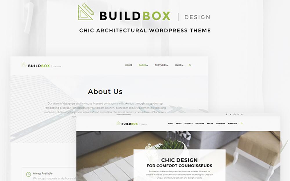 Buildbox - Thème WordPress pour agence d'architecture