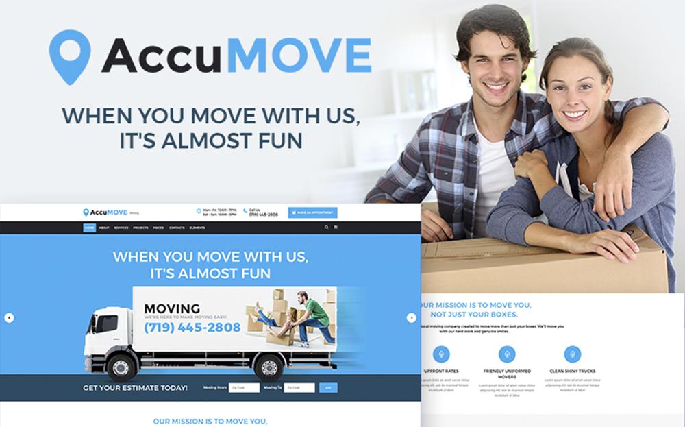 AccuMOVE! - Thème WordPress réactif pour les entreprises de déménagement