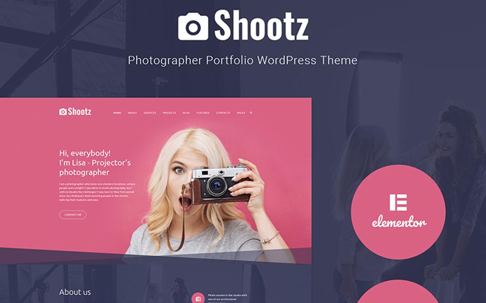 Shootz - Thème WordPress pour portfolio de photographe