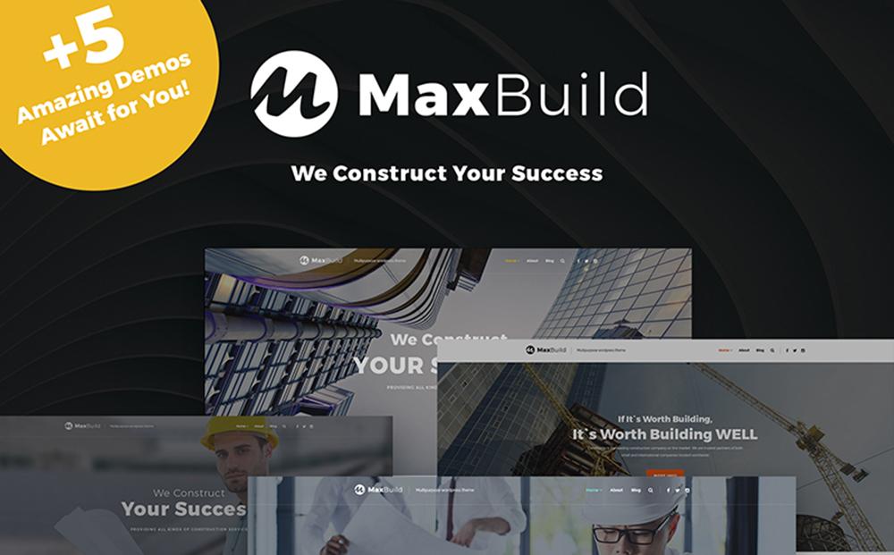 MaxBuild - Thème WordPress polyvalent de construction