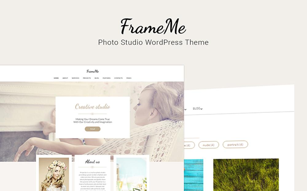 FrameMe - Thème WordPress pour Studio de Photographie