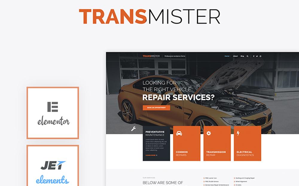 Émetteur - Thème WordPress de réparation de voiture