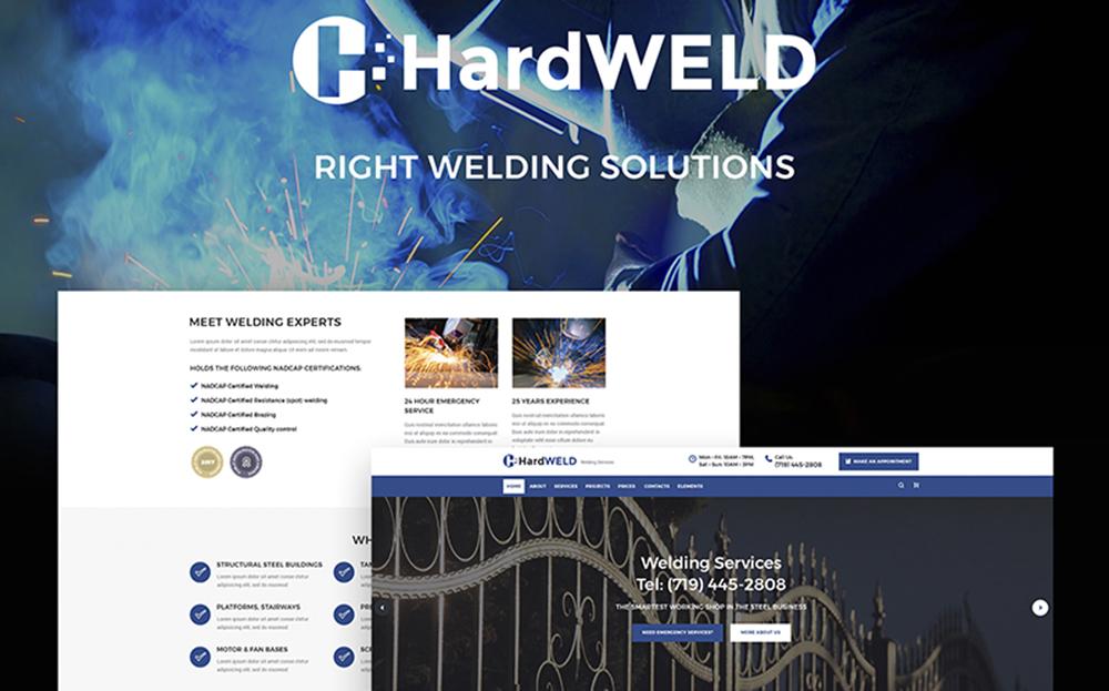 HardWeld - Thème WordPress réactif pour le service de soudage