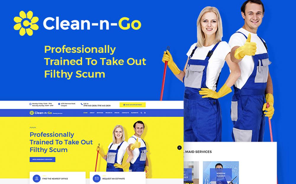 Clean-n-Go - Thème WordPress pour les services de nettoyage