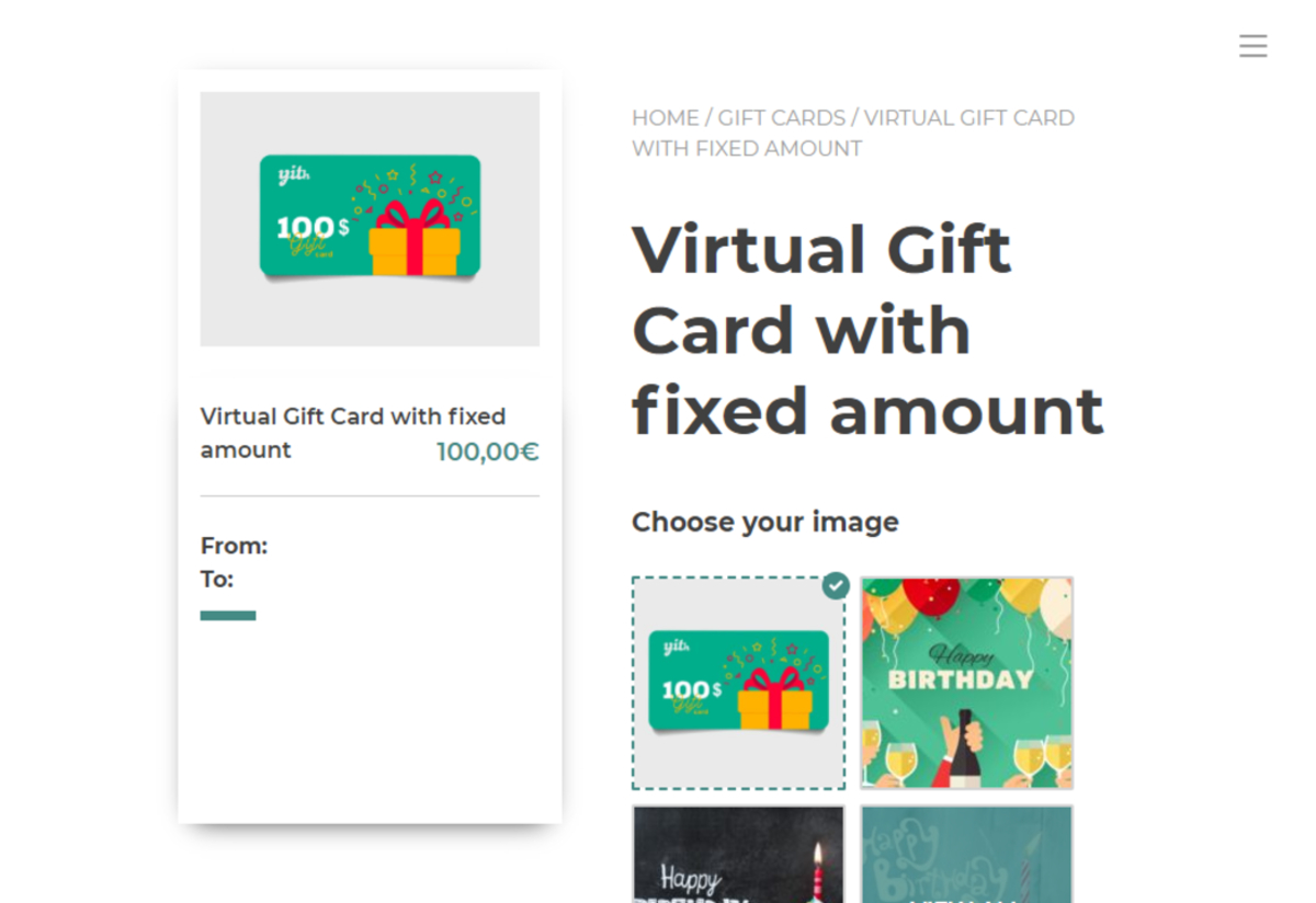 Plugins de cartes-cadeaux virtuels WooCommerce