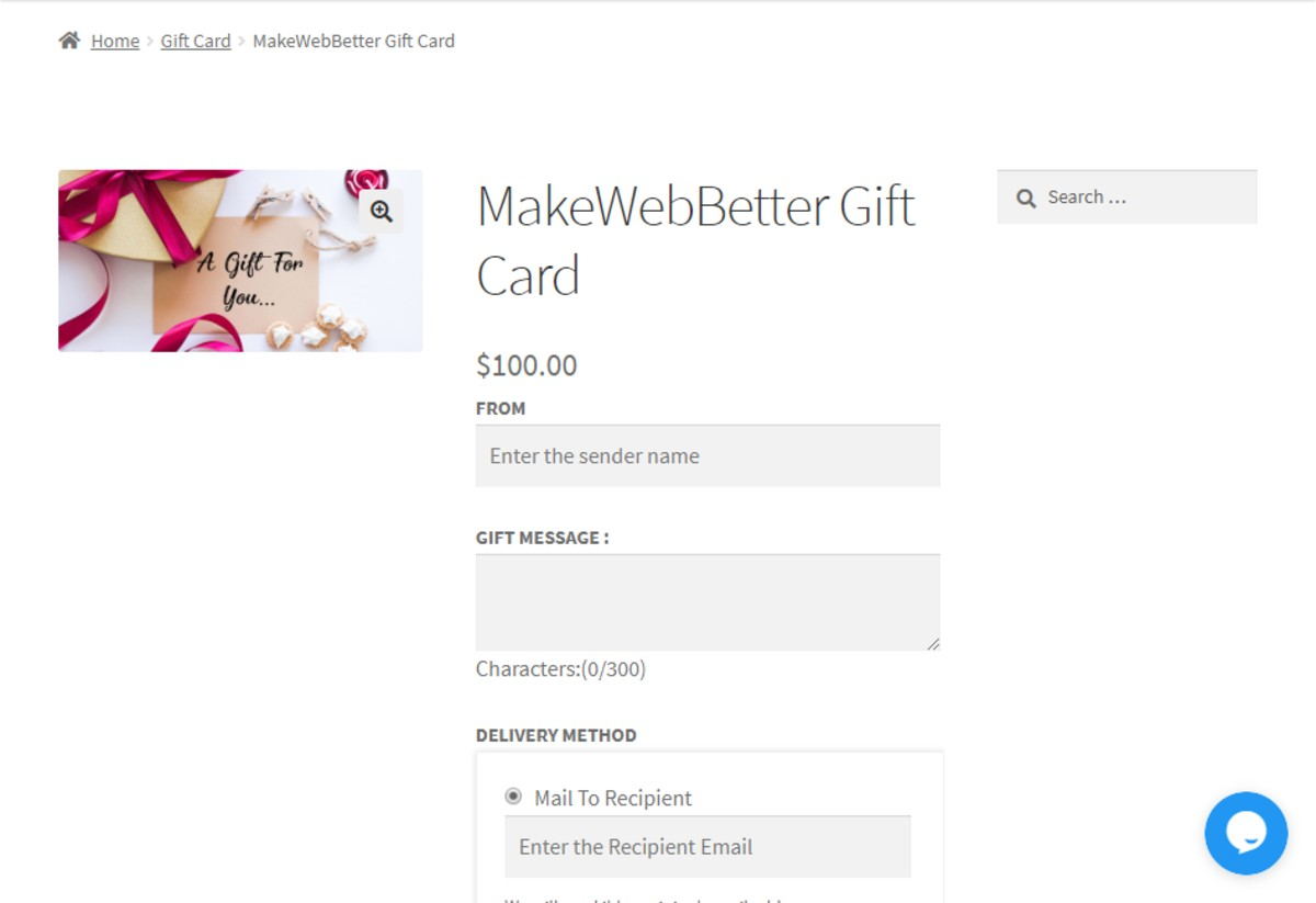 Plugins de cartes-cadeaux WooCommerce minimalistes