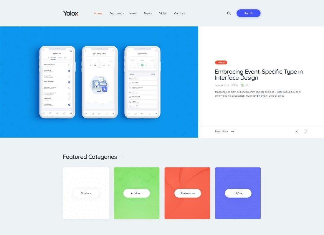 Yolox | Thème de blog WordPress moderne pour les entreprises et les startups