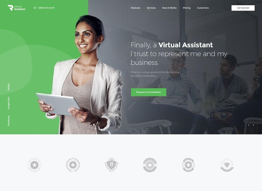 Revirta | Thème WordPress pour assistant virtuel personnel et secrétaire