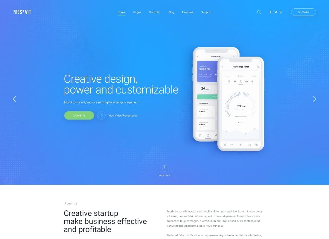 ProStart | Thème WordPress pour start-up et entreprise