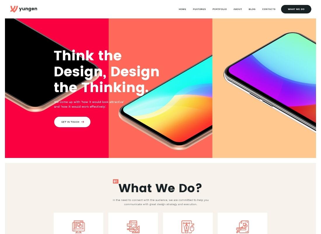 Yungen | Thème WordPress pour les entreprises de l'agence numérique moderne