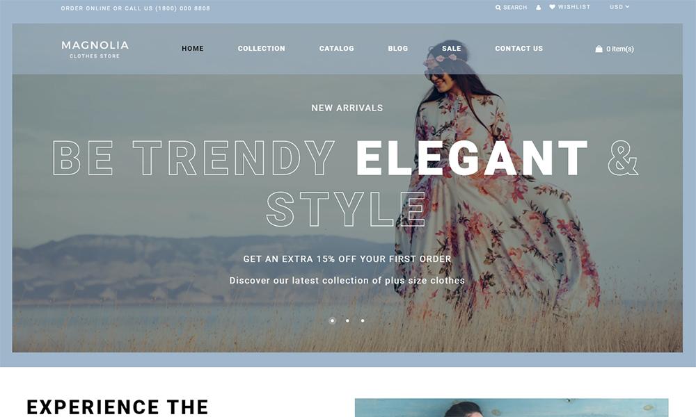 Thème Shopify pour magasin de vêtements grande taille