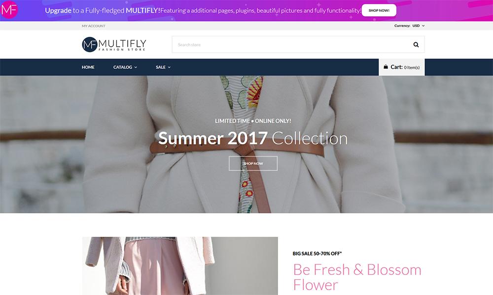 Multifly - Thème Shopify élégant gratuit pour magasin de mode