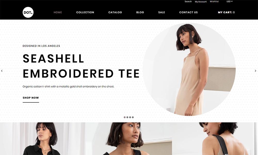 POINT.  - Thème élégant Shopify pour le commerce électronique de la mode et des vêtements pour femmes