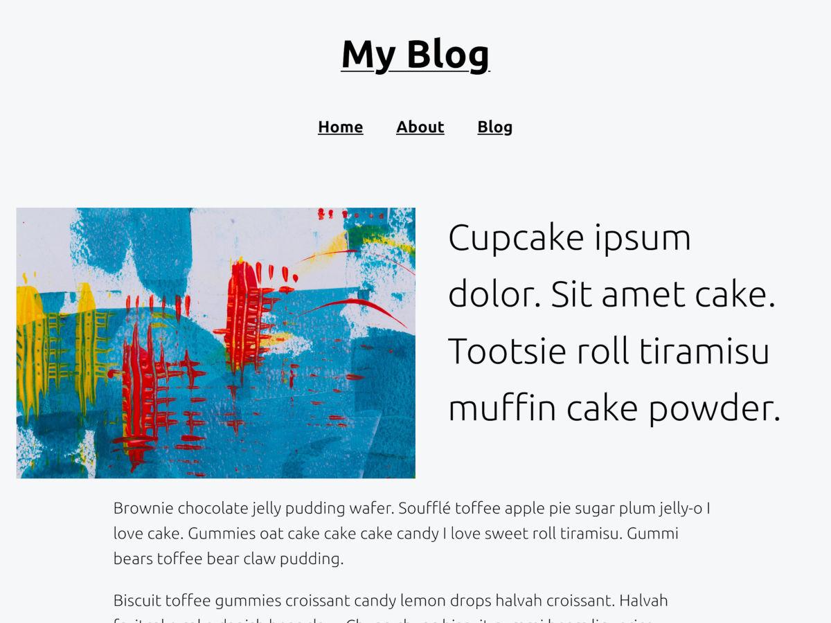 Capture d'écran fournie avec le thème WordPress Q.