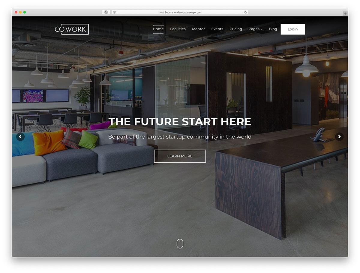 conception de site Web de coworking