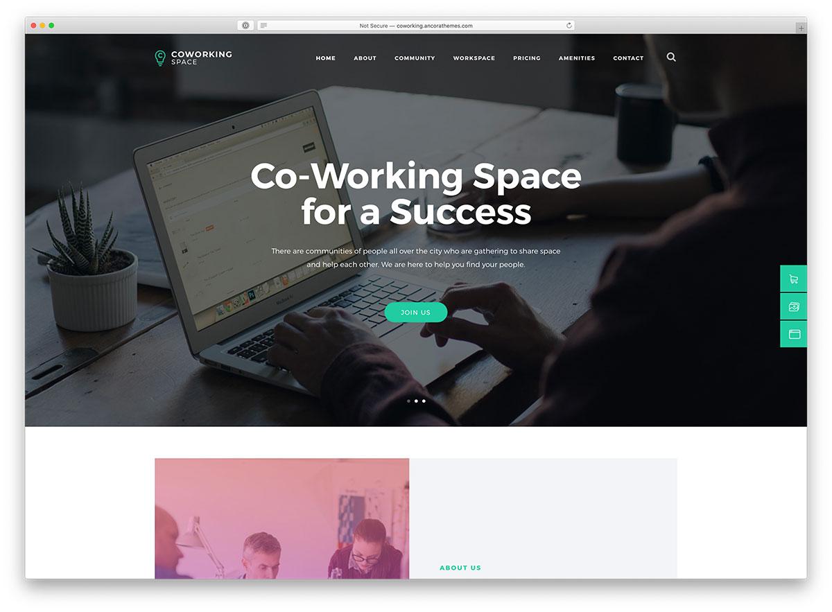 thème WordPress de coworking