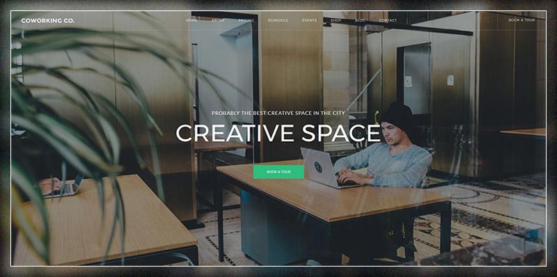 Coworking Co. - Thème WordPress pour espace créatif