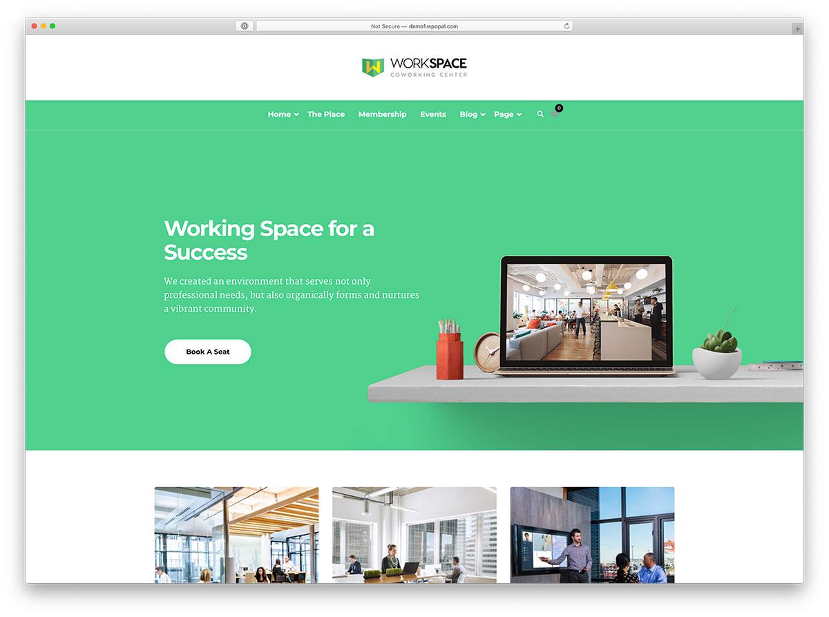 thème WordPress d'espace de travail partagé