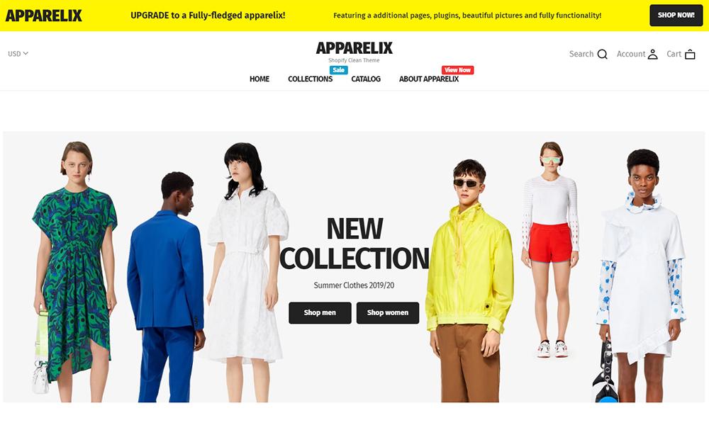 Thème Shopify gratuit Apparelix