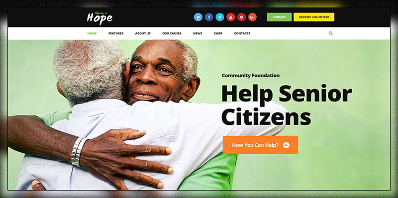 Hope    Organismes sans but lucratif, organismes de bienfaisance et dons