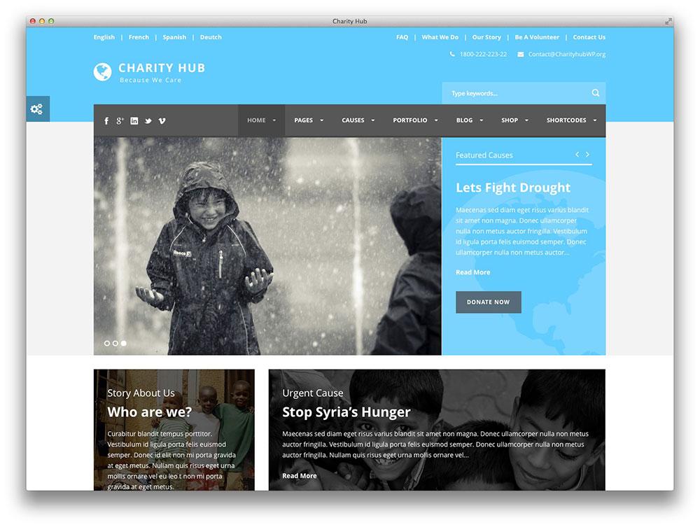 Carity Hub - Organisme de bienfaisance / à but non lucratif / Collecte de fonds WP