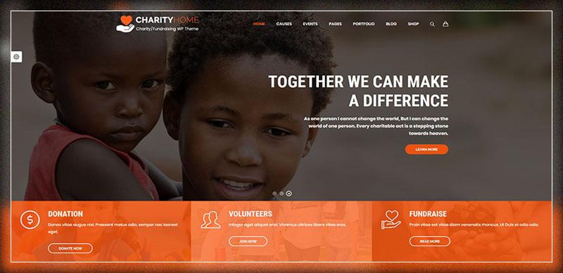 Charity Home - Thème WordPress de charité / collecte de fonds