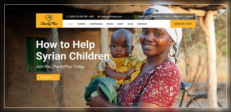 Charity Plus - Thème WordPress à but non lucratif